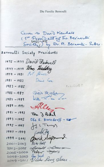 Signatures of BS presidents